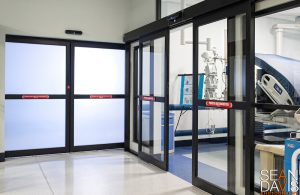 Automatic Door in Laboratory