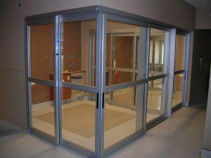 Sliding door in Dialysis Room
