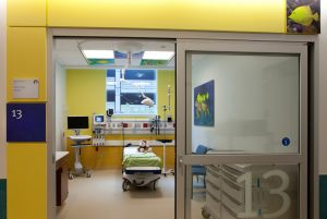 Sliding Door in Child Ward