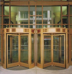 Double Revolving Door Ottawa, Burlington, London - Double 4 Wing Revolving Door ontario