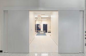 Sliding door in operation theatre